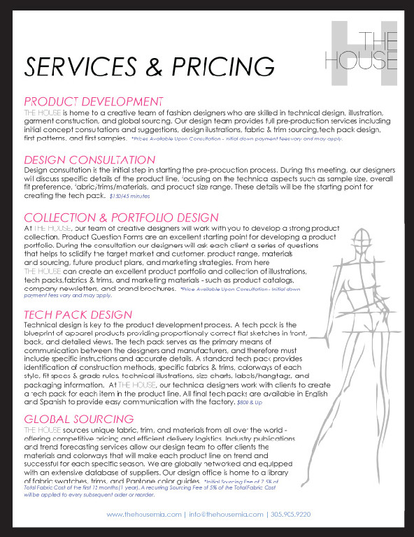 Service and Pricing Guide